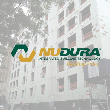 NuDura logo with background image