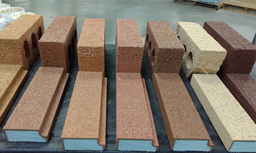 new brick color samples