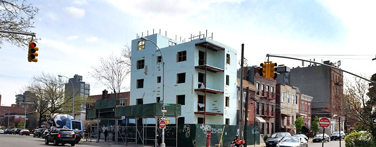 NUDURA apartment building in Queens, NY