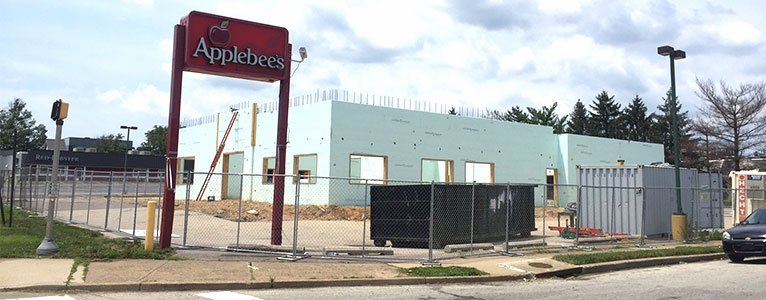 NUDURA foundation of a new Applebee's restaurant