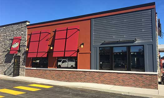 new brick on an Applebee's location