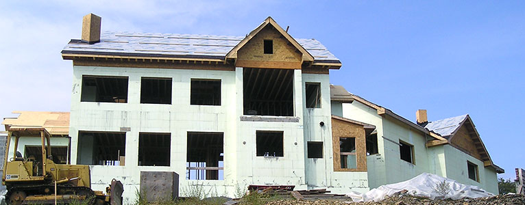 large home with nudura in the building stages